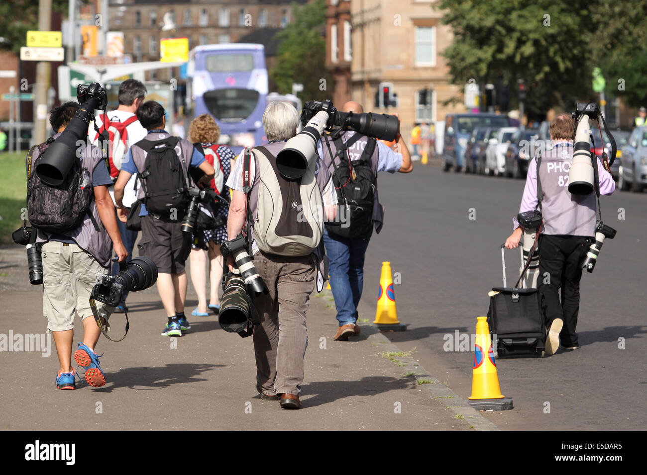 Glasgow Scotland 28 Jul 2014. Commonwealth Games day 5.  General scenes from around the venues as workers, athletes Stock Photo
