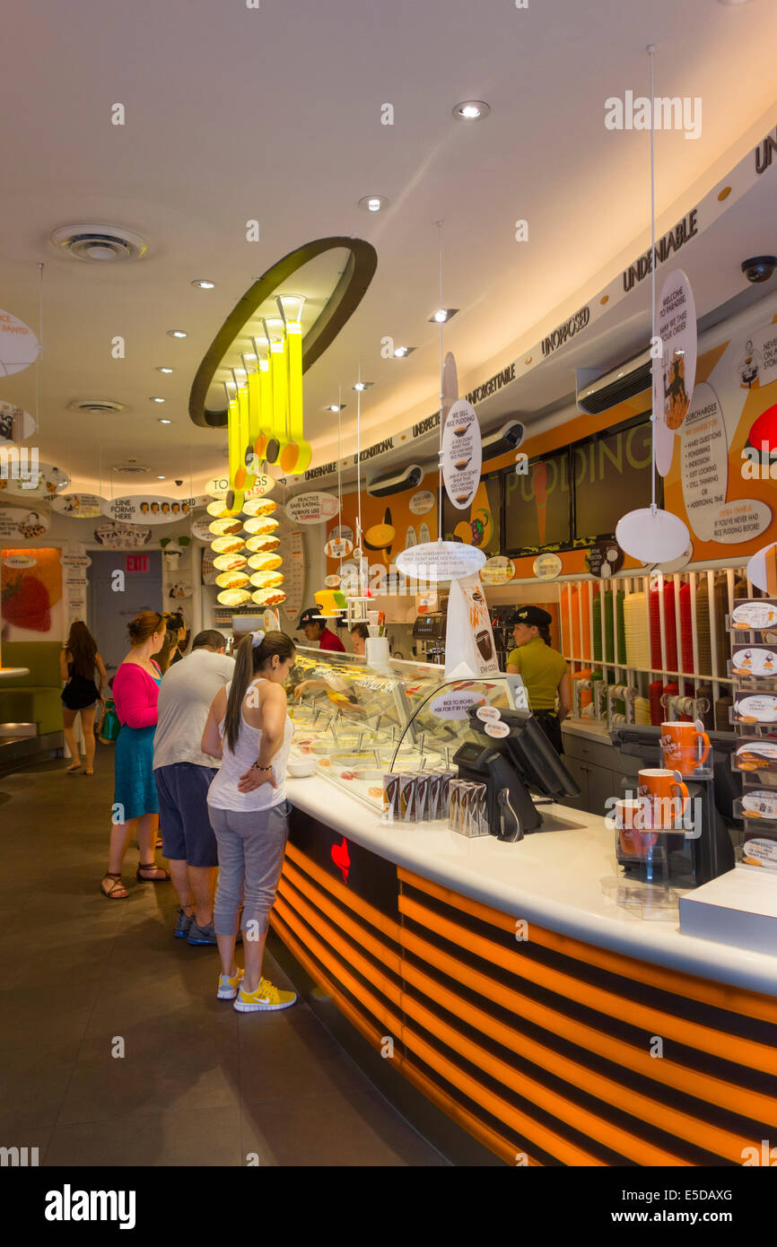 rice to riches in little Italy New York City - Stock Image