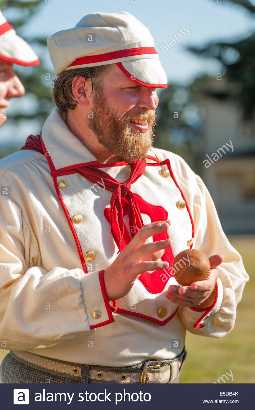 Vancouver, Washington, US. 26th July, 2014. An Occidental player with a woolen uniform and neckerchief. On May 29, - Stock Image