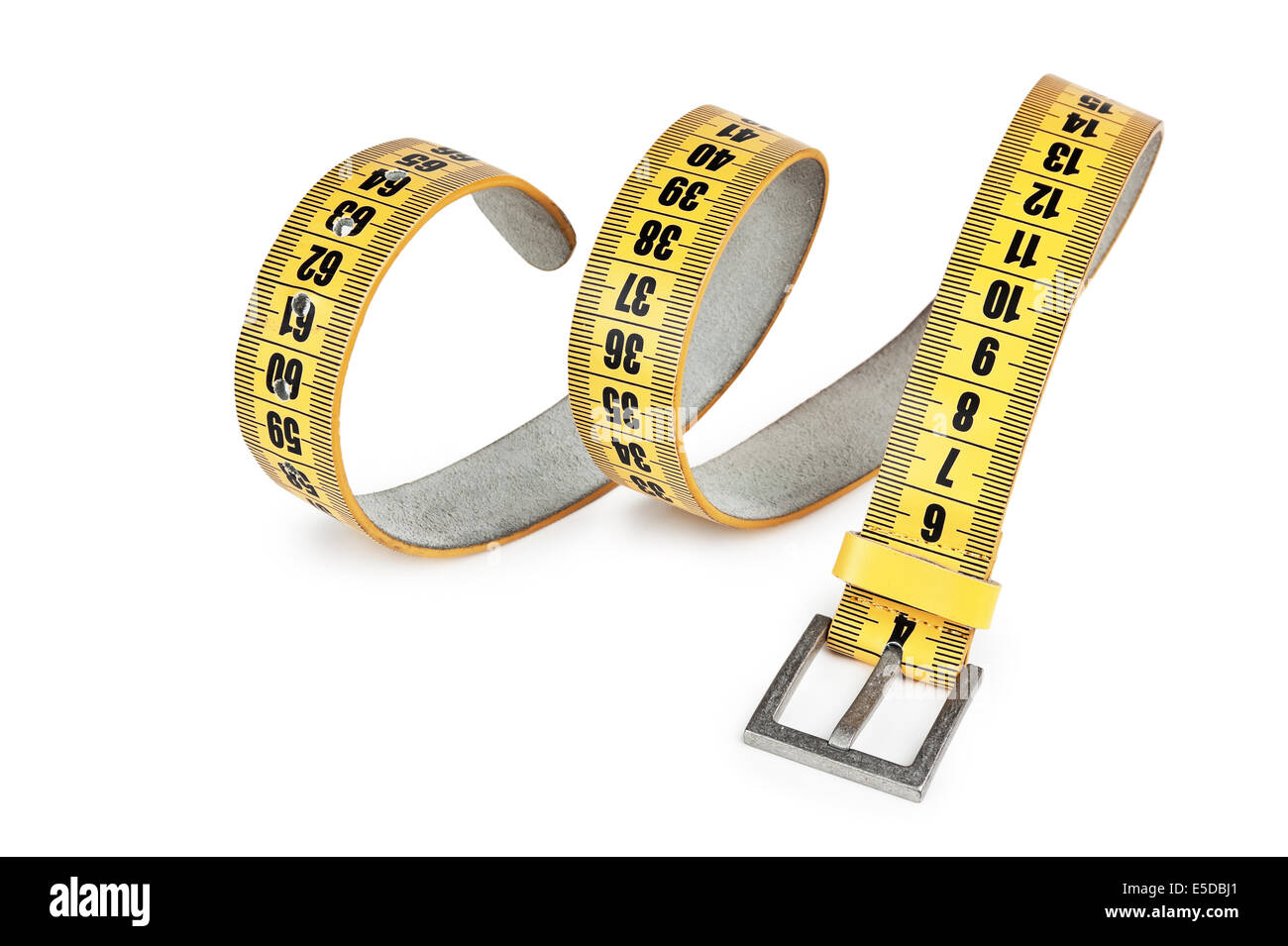 meter belt slimming isolated on a white background - Stock Image