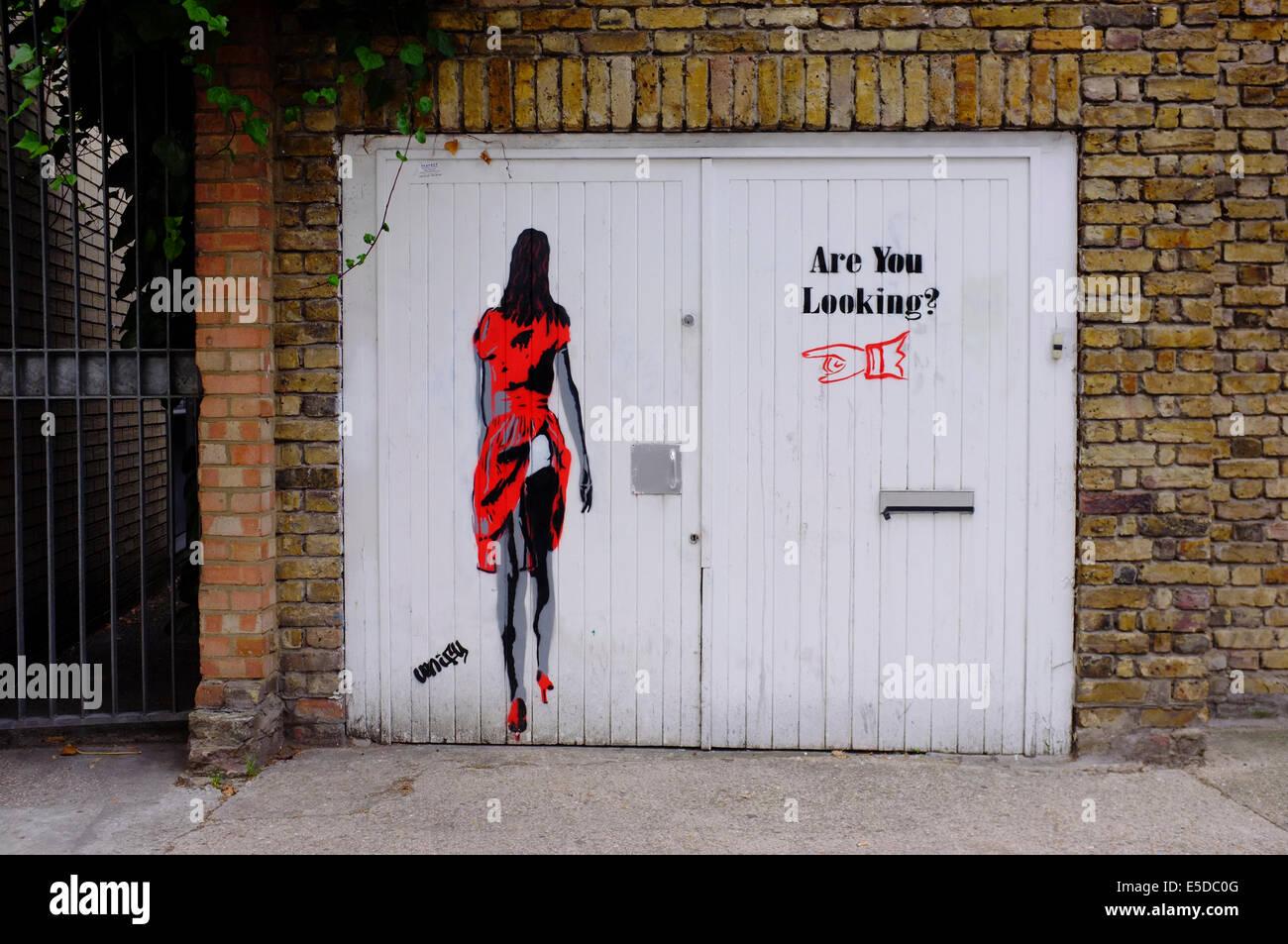 Graffiti Art in East London - Stock Image