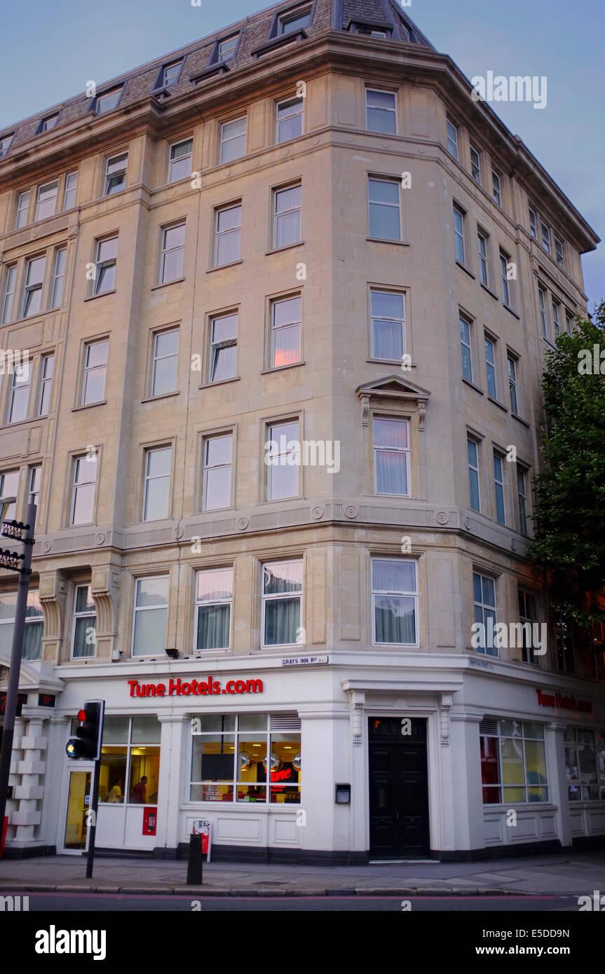 Tune Hotels.com on Grays Inn Road, London - Stock Image