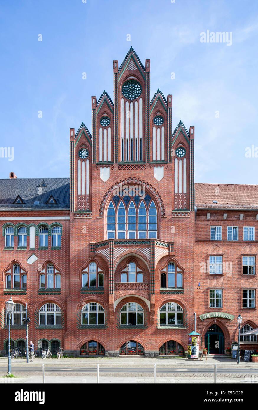 Köpenick City Hall, Brick Gothic, Köpenick, Berlin, Germany - Stock Image