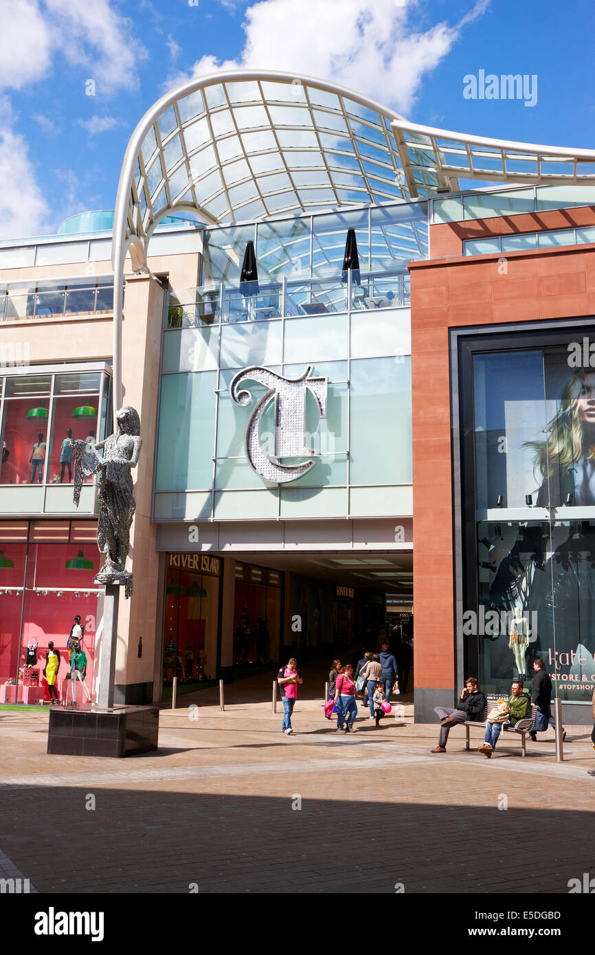 Trinity Leeds, shopping and leisure centre, Briggate entrance. West Yorkshire UK - Stock Image