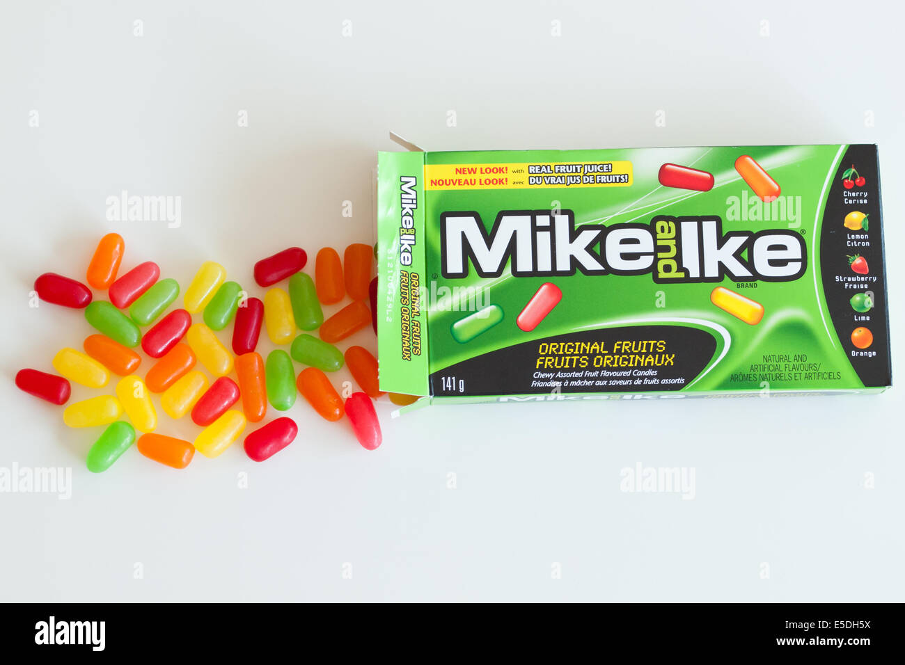 A box of Mike and Ike candy.  Original Fruits variety is shown. - Stock Image