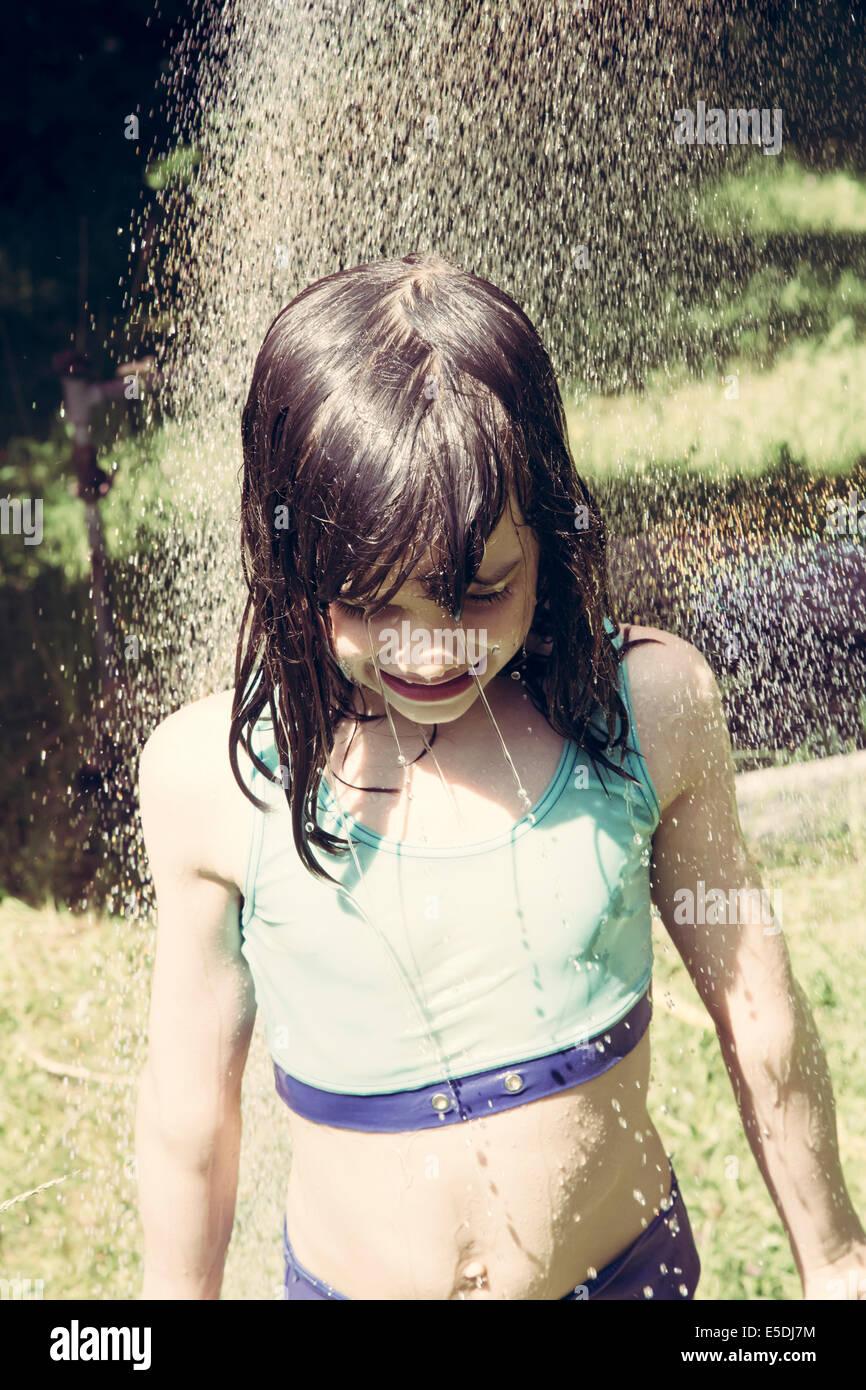 Little Girl Shower Stock Photos Amp Little Girl Shower Stock