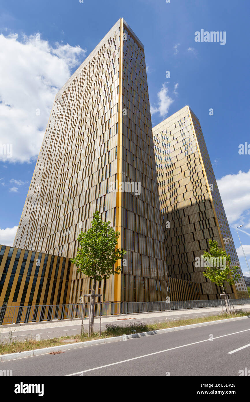 Luxembourg, Luxembourg City, European Quarter, office towers of European Court of Justice - Stock Image