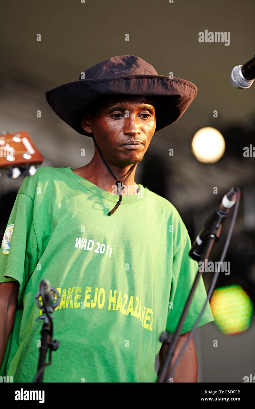 Womad music festival Charlton Park, Wiltshire, July 2014. The Good Ones from Rwanda, Africa - Stock Image