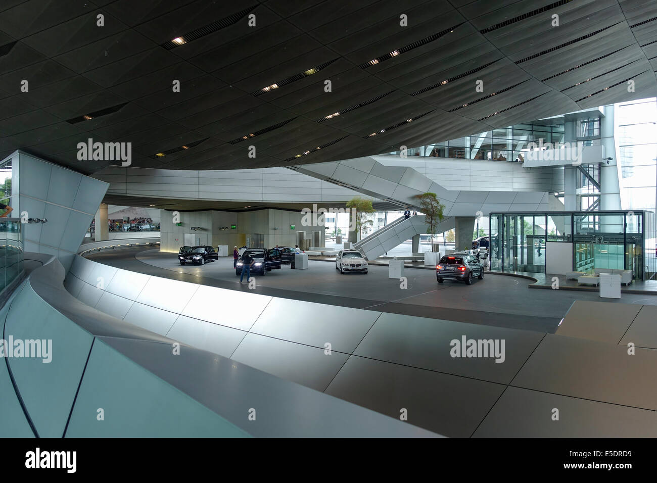 BMW World, BMW-Welt delivery and experience center, Munich, Bavaria, Germany, Europe - Stock Image