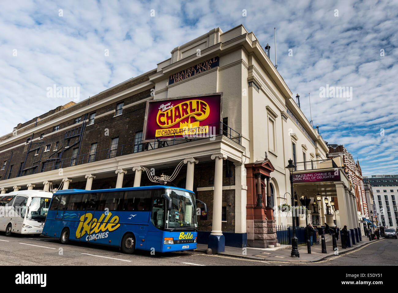 The Theatre Royal, Drury Lane, commonly known as Drury Lane, is a West End theatre in Covent Garden, London - Stock Image