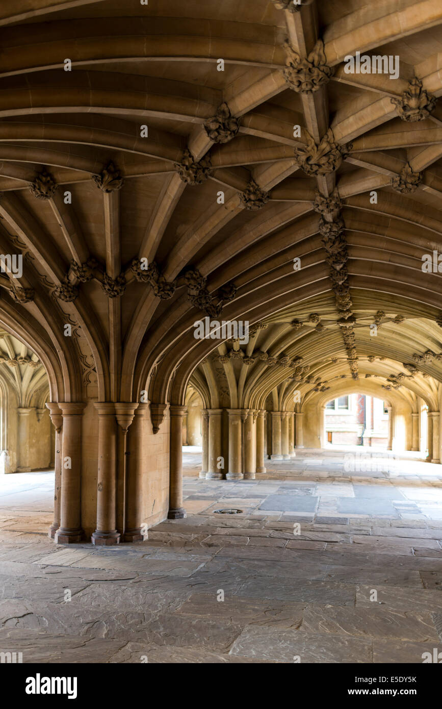 Arches under the chapel at Lincoln's Inn. The Honourable Society of Lincoln's Inn is one of four Inns of - Stock Image