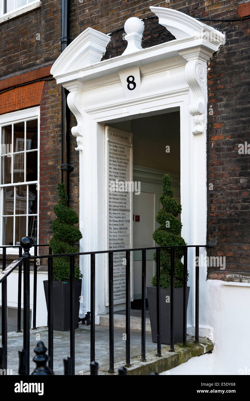 Entrance to Chambers at Lincoln's Inn. The Honourable Society of Lincoln's Inn is one of four Inns of Court - Stock Image