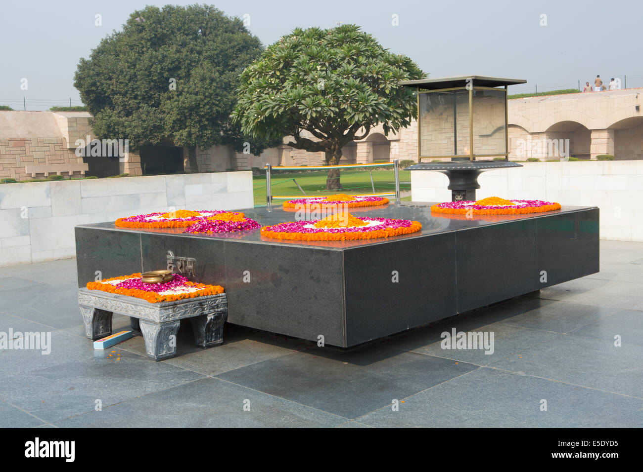 Raj Ghat: Tomb Of Mahatma Gandhi, New Delhi, India - Stock Image
