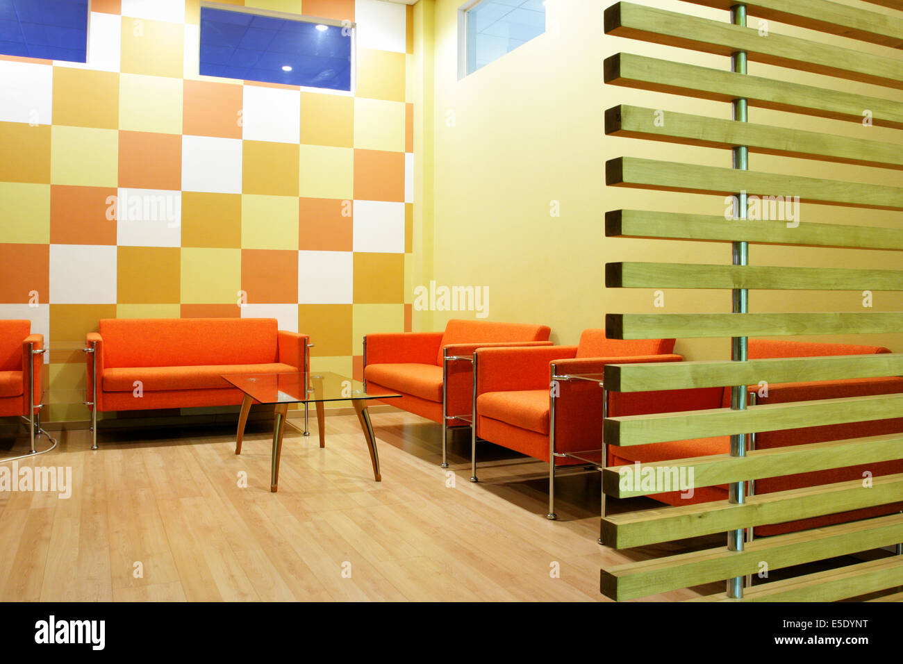 Moderm interior of a waiting room - Stock Image