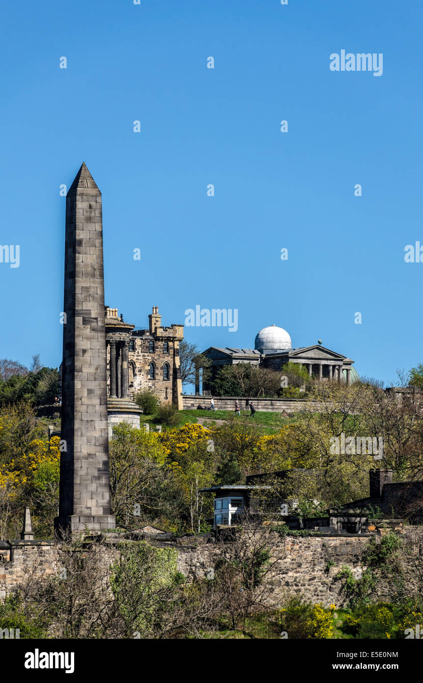 The Political Martyrs' Monument is a Category A listed memorial in the Old Calton Cemetery on Calton Hill, Edinburgh Stock Photo