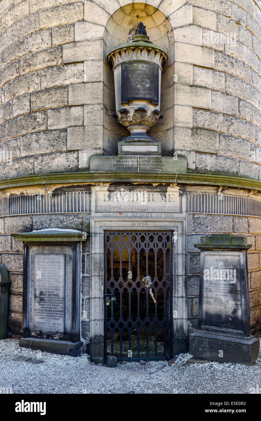 The philosopher David Hume's mausoleum in Old Calton Cemetery (properly called Old Calton Burial Ground) Stock Photo