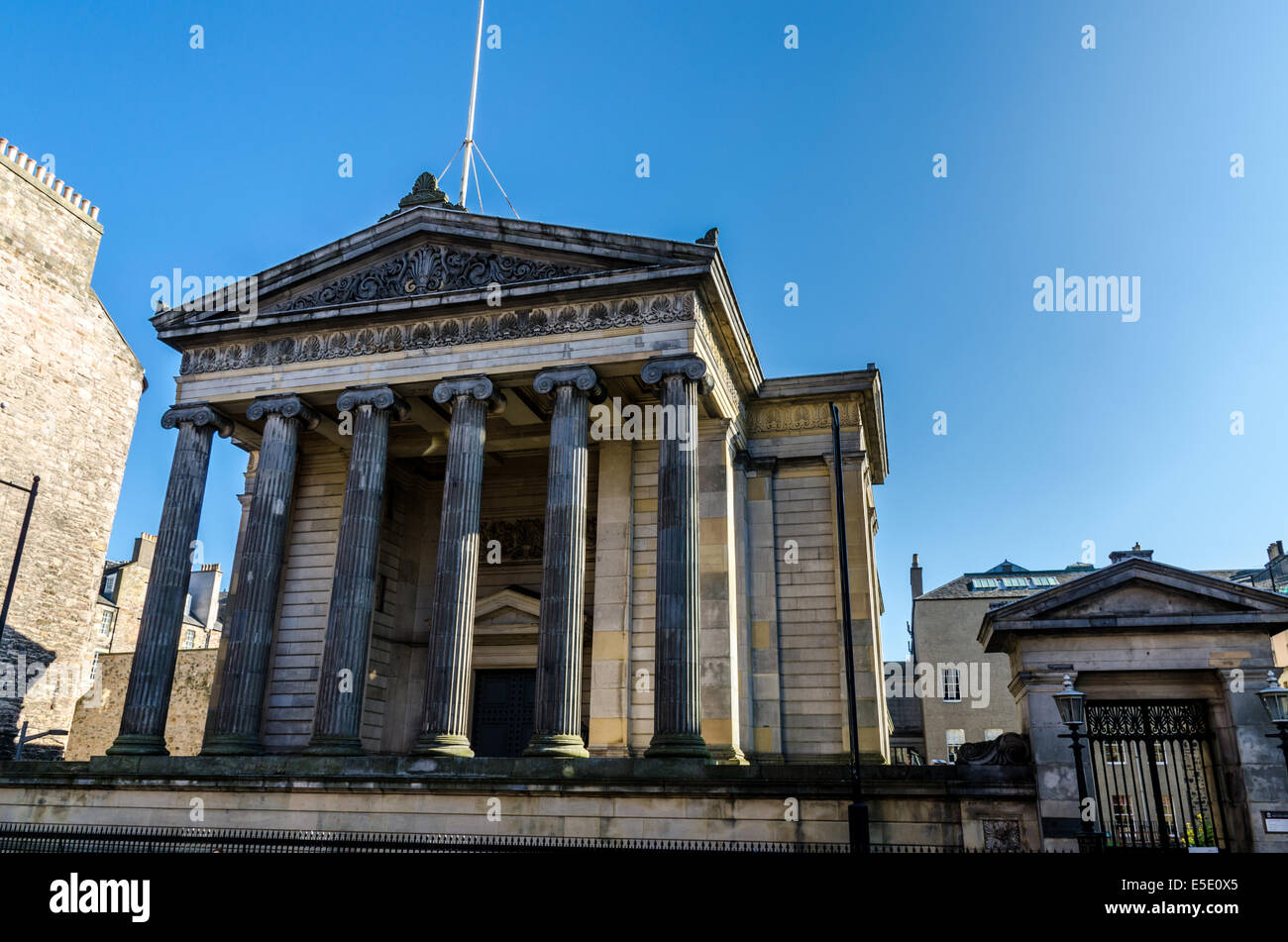 Surgeons' Hall in Edinburgh, Scotland, is the headquarters of the Royal College of Surgeons of Edinburgh (RCSED). - Stock Image