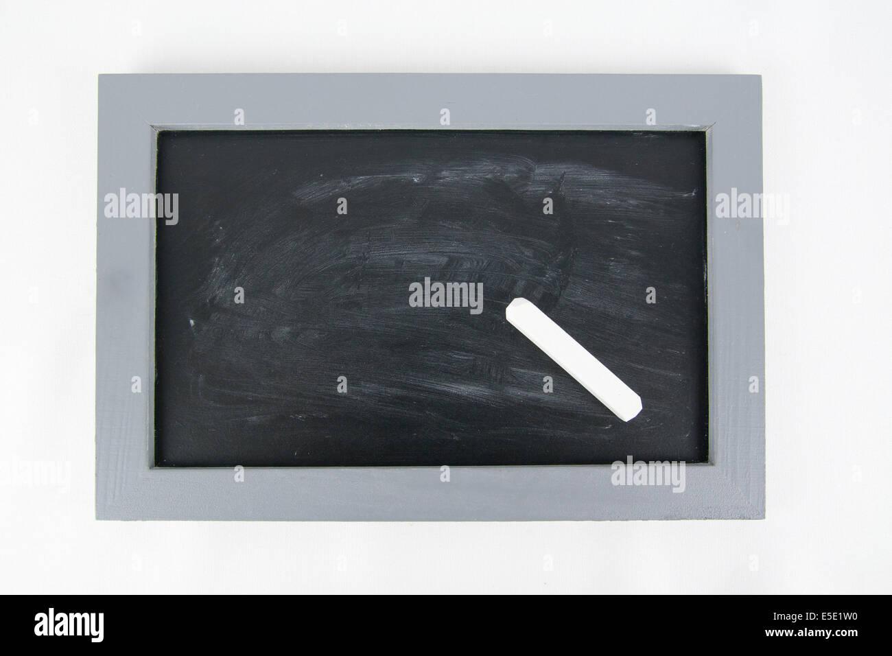 Tafel Kreide leer leere Schiefer Schiefertafel gruen schwarz weiss ...