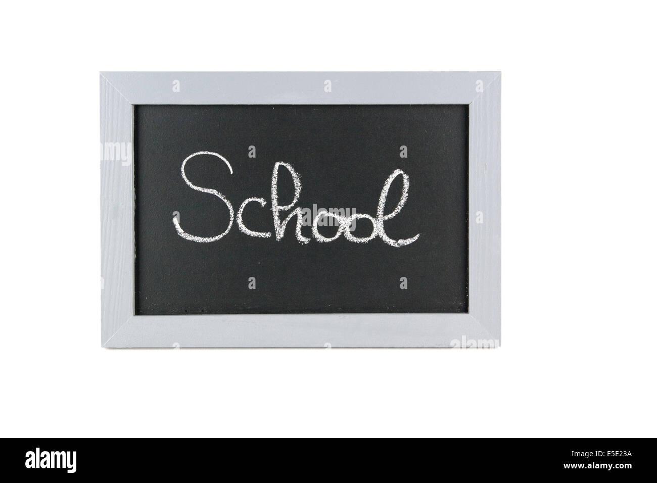 Tafel Schule School Ferien Urlaub Sommerpause Ferienzeit Sommerferien Kinder Mitschueler Frei Schulfrei Lernpause - Stock Image