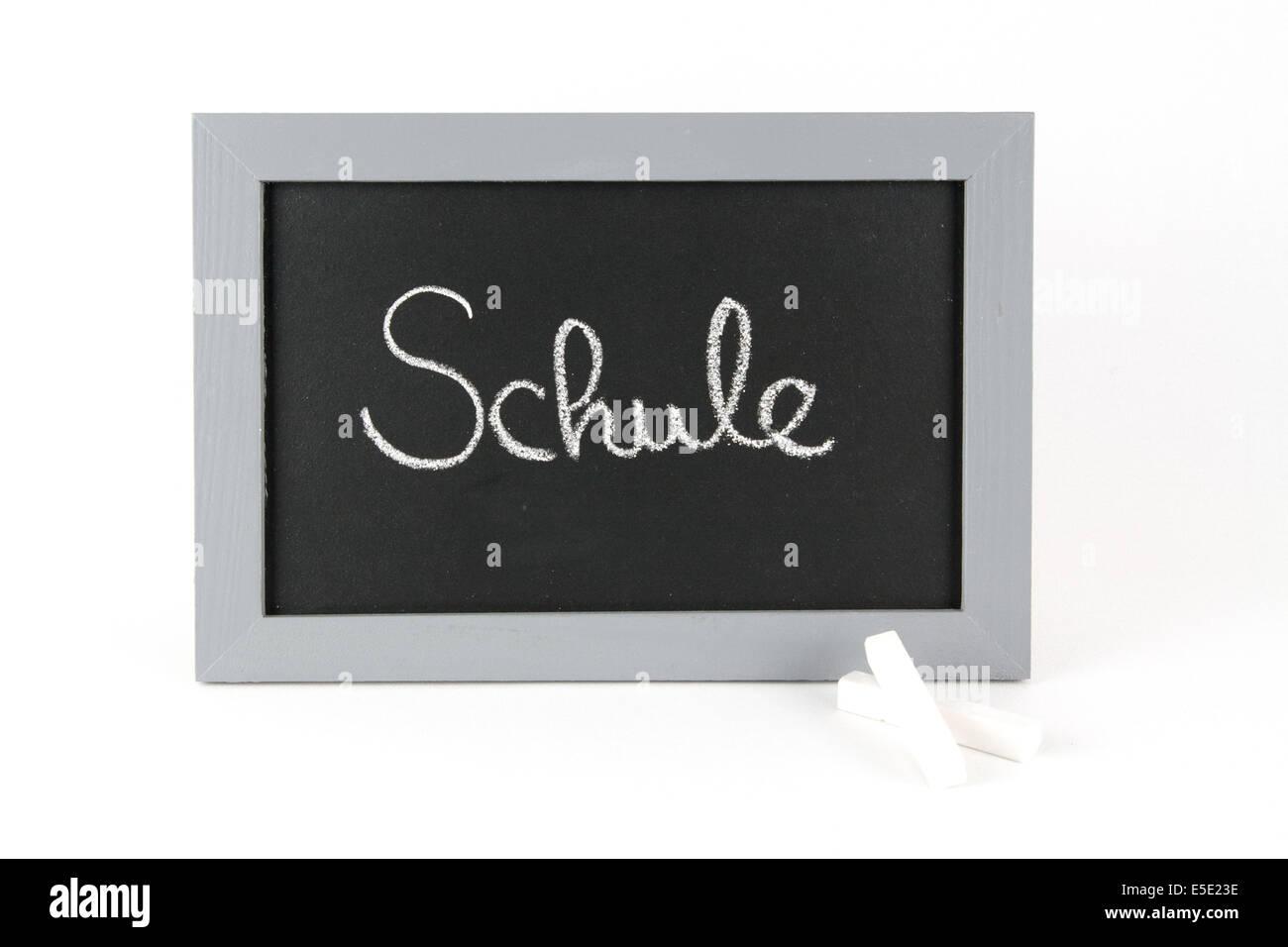 Tafel Schule Ferien Urlaub Sommerpause Ferienzeit Sommerferien Kinder Mitschueler Frei Schulfrei Lernpause Alphabet - Stock Image