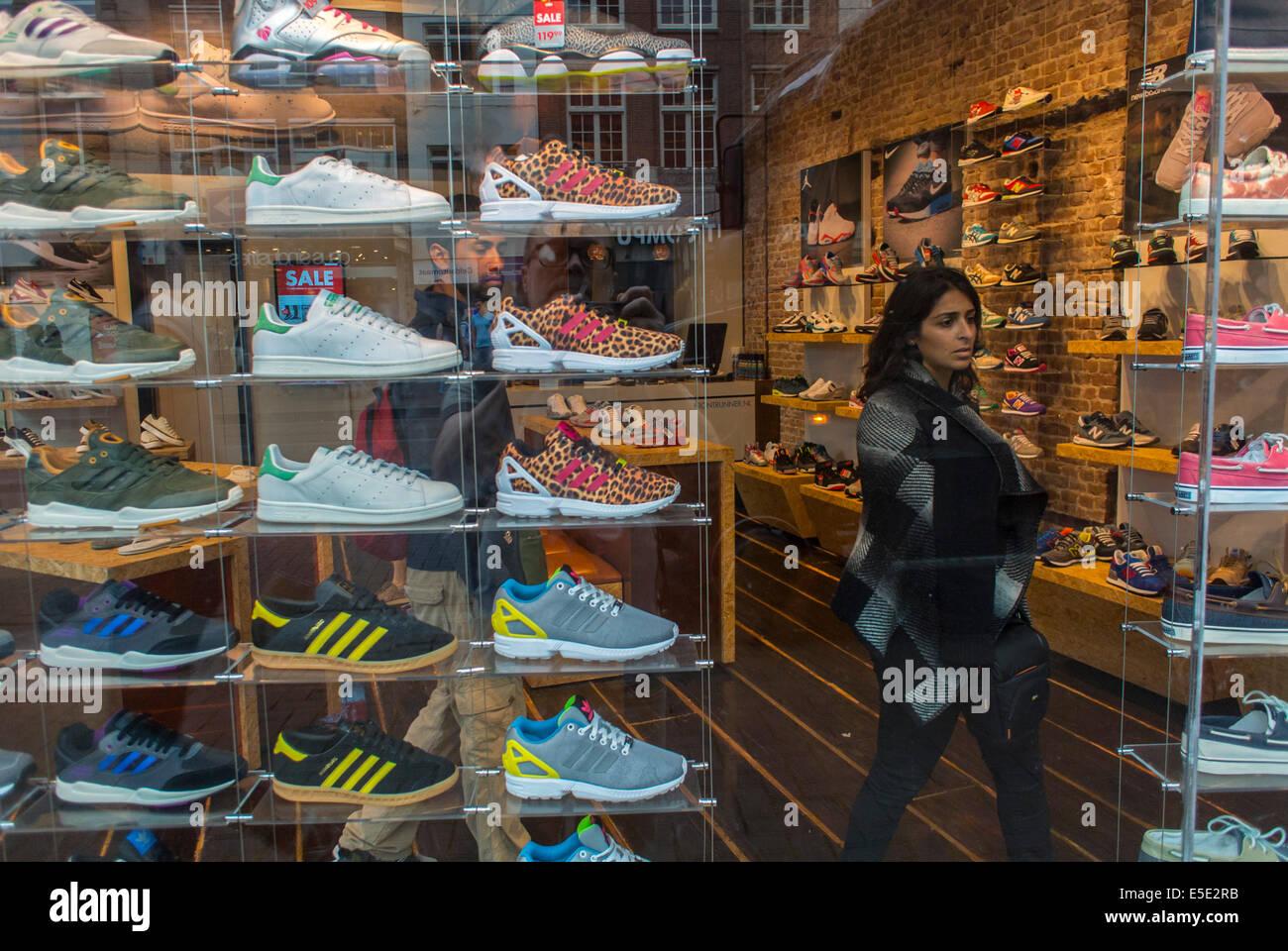 Inside Shoe Store High Resolution Stock
