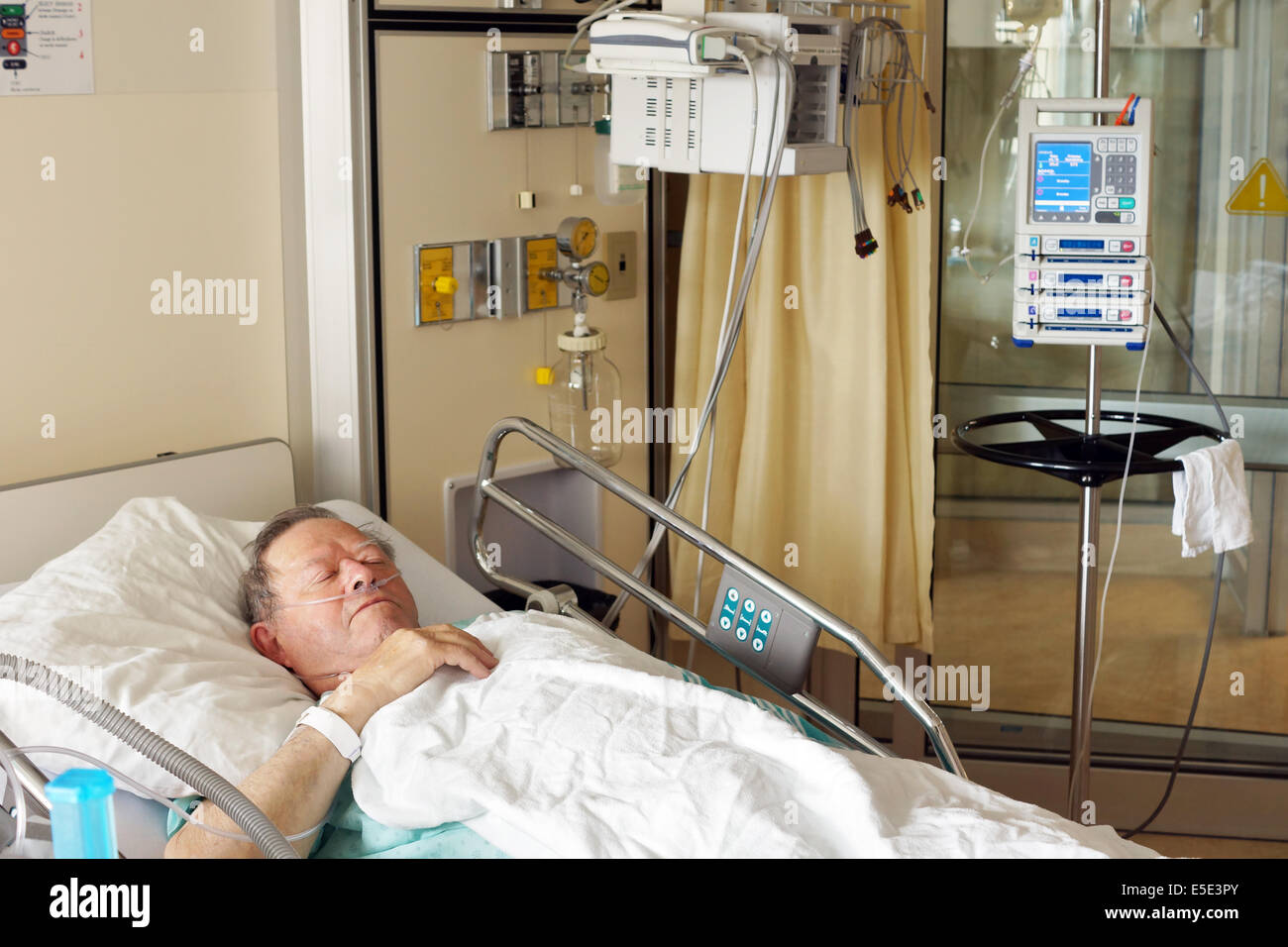 Lots Of People In Hospital Bed On A Drip