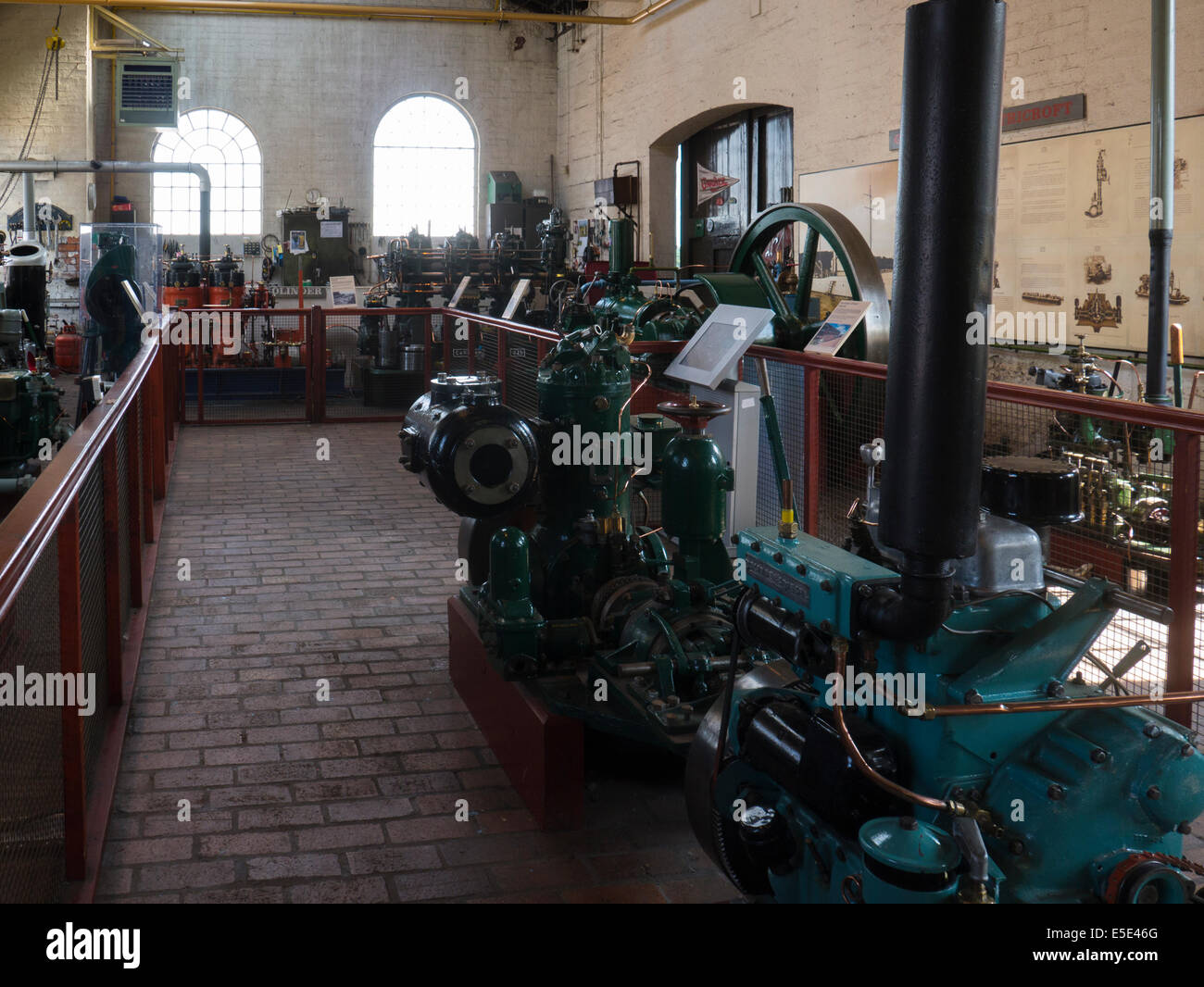 Power Hall of National Waterways Boat Museum Ellesmere Port Cheshire home to nation's collection Canal river waterway Stock Photo