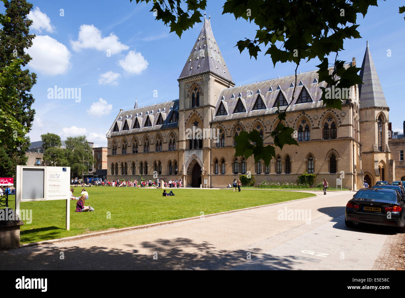 The Pitt Rivers Museum in the city of Oxford UK - Stock Image