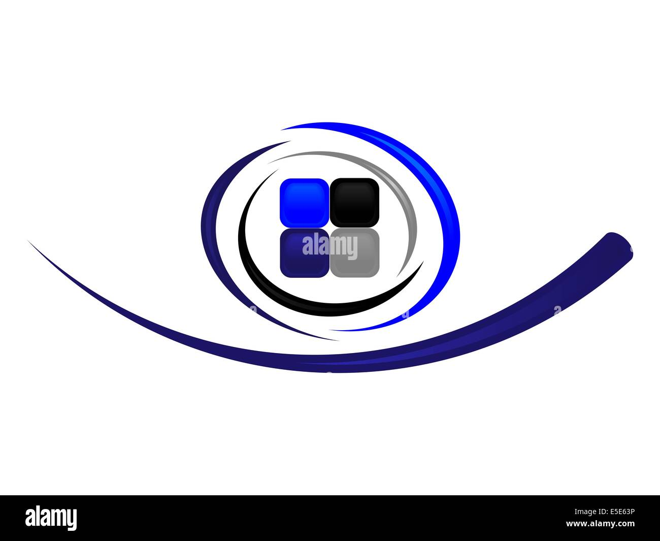 Logo for company in modern style - Stock Image