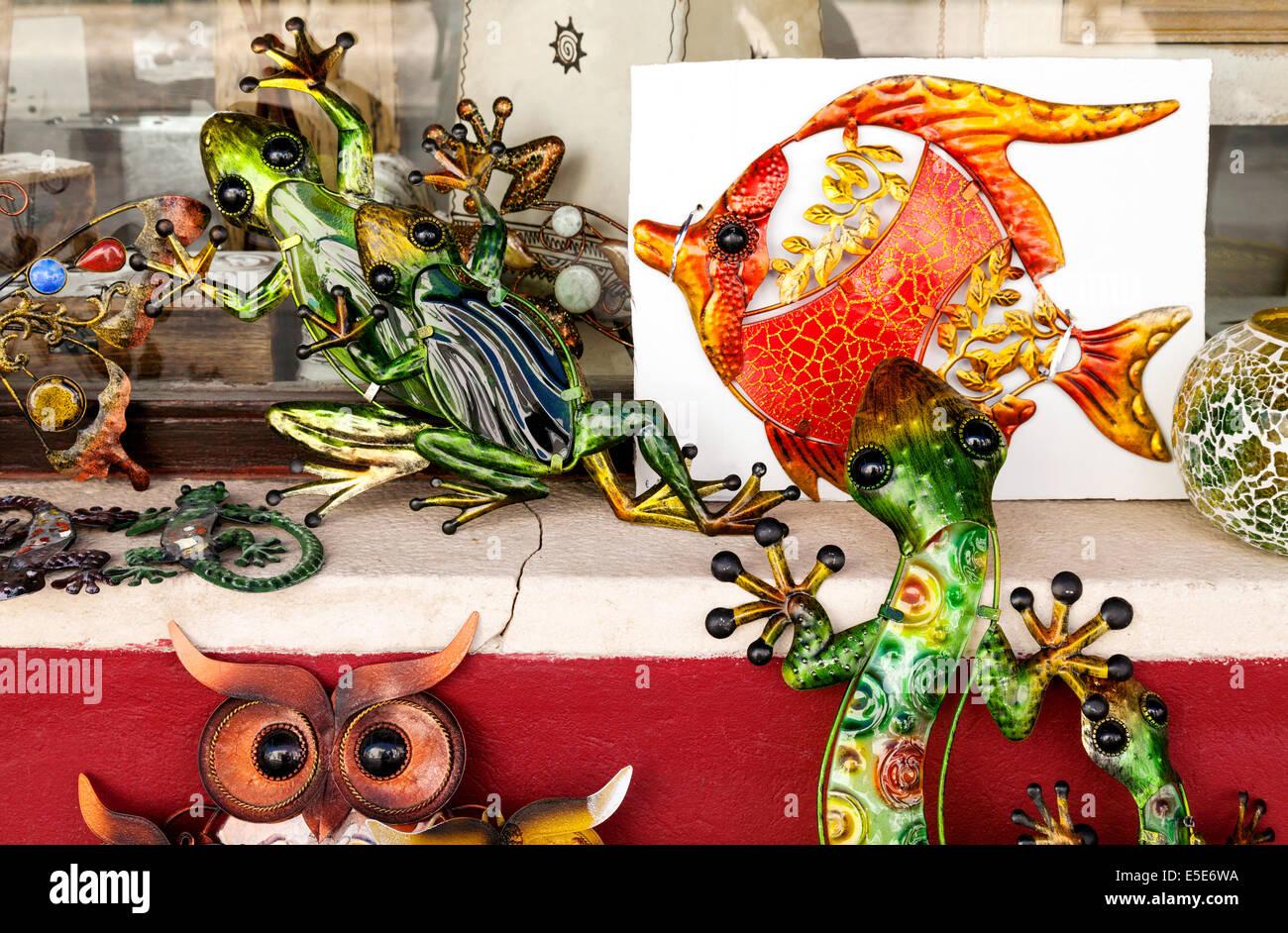Craft shop or gift store, Carvoeiro, Algarve, Portugal Europe Stock Photo