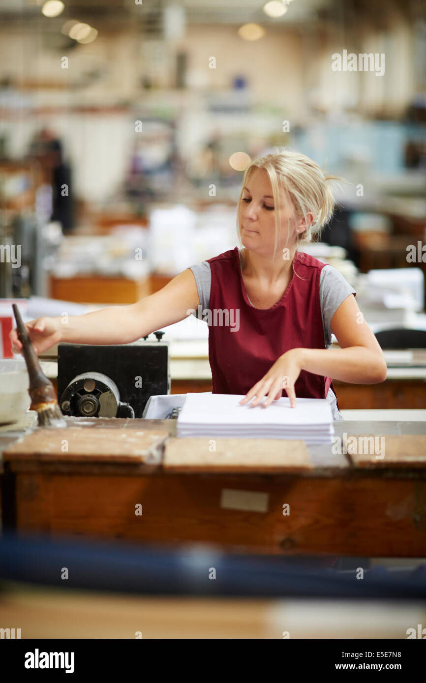 Book makers factory Dunn and Mills in Huddersfield Yorkshire Stock Photo