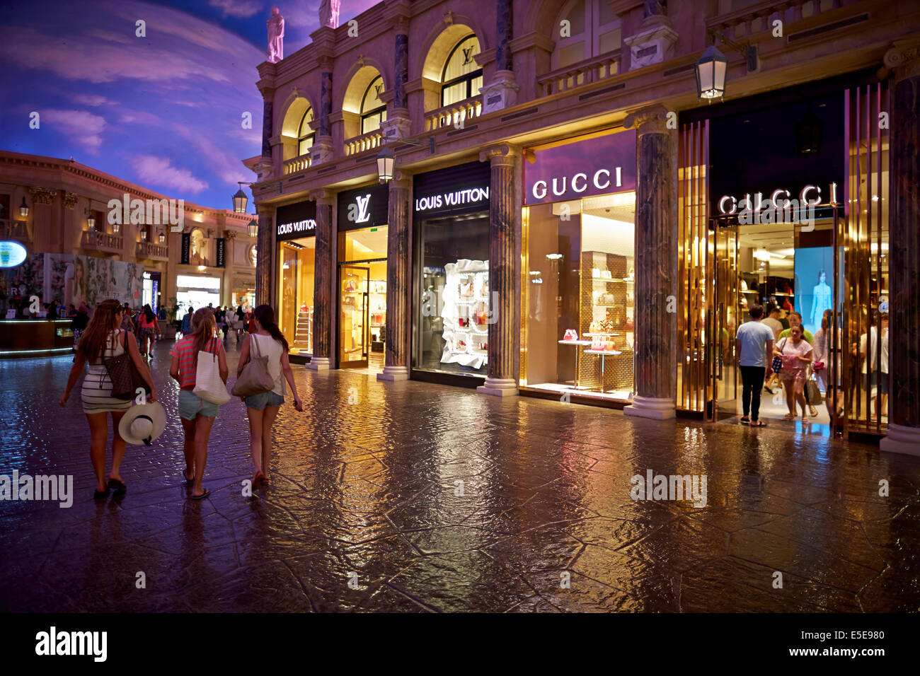 the forum shops at caesars a shopping mall connected to caesars stock photo 72229360 alamy. Black Bedroom Furniture Sets. Home Design Ideas