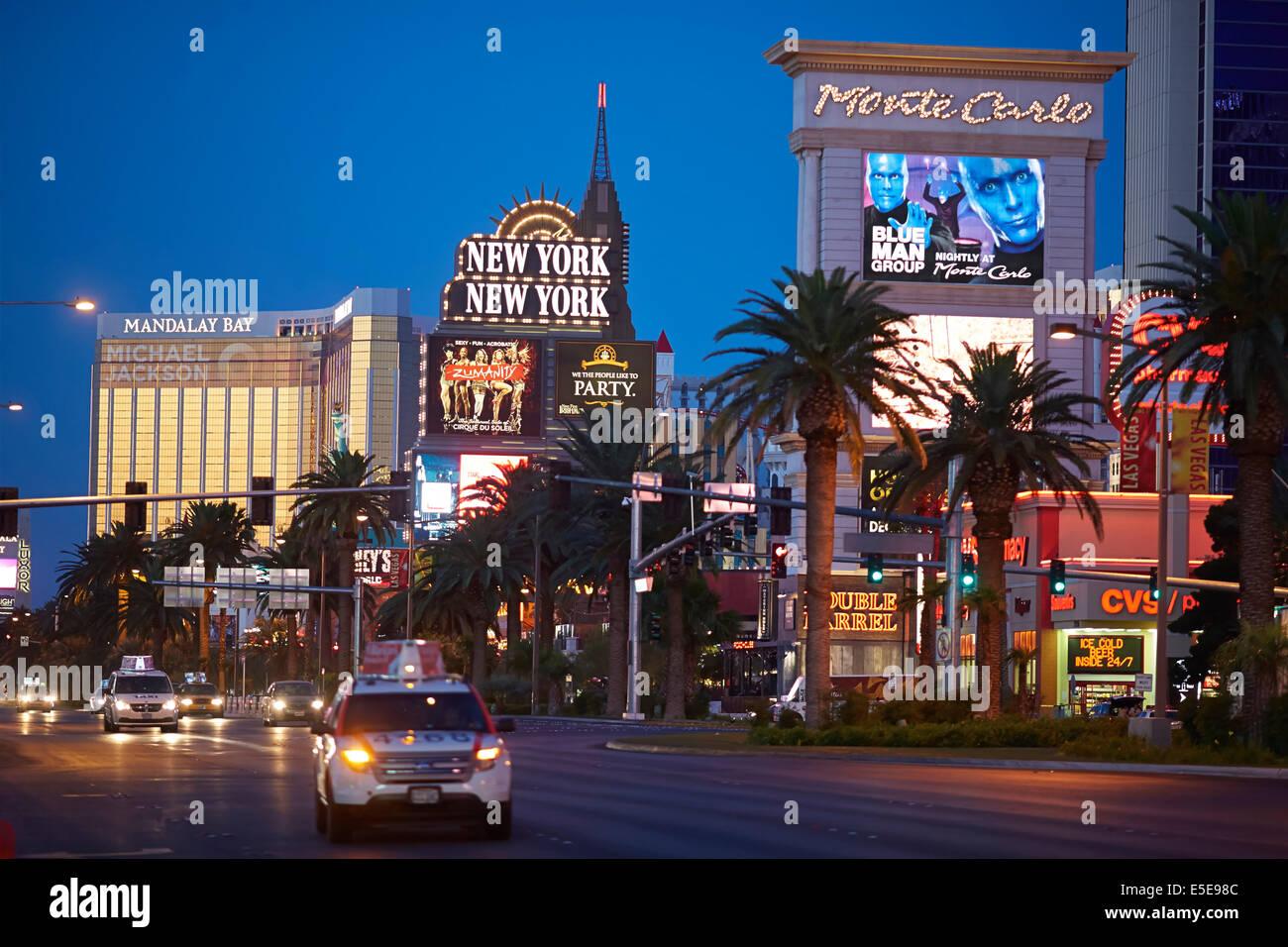 New York-New York Hotel & Casino located on the Las Vegas Strip at Las Vegas Boulevard South, in Paradise, Nevada. - Stock Image