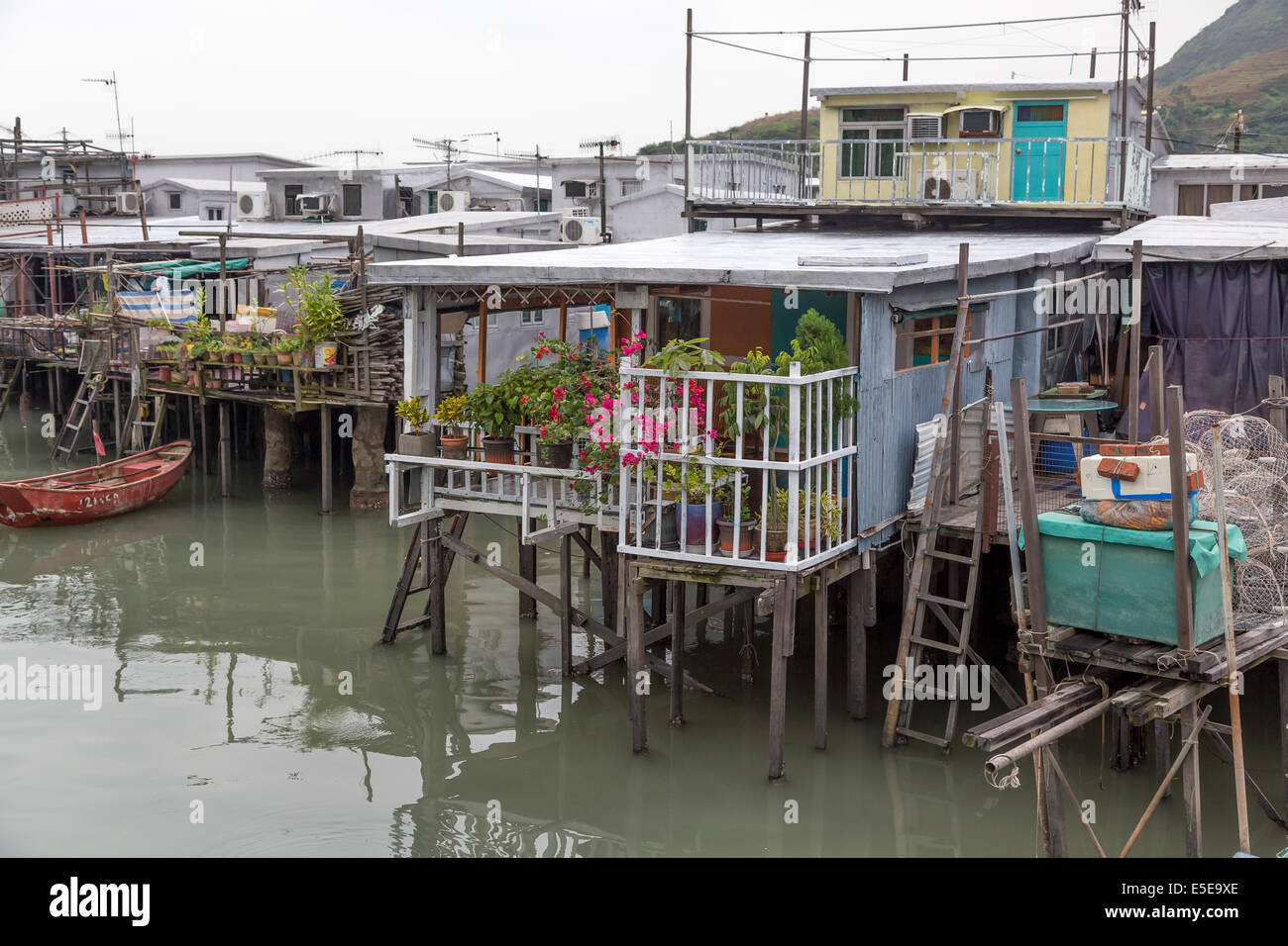 Tai O, Lantau Island, Hong Kong one of the old fishing villages in Hong Kong, and is known as the Venice of the - Stock Image
