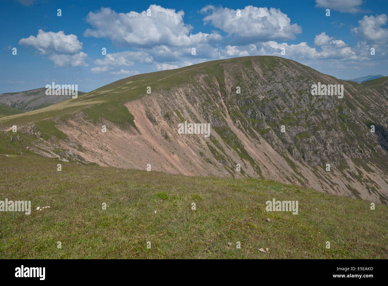 Crag Hill and Scar Crag as seen from Wandope, Lake District fells, Cumbria - Stock Image