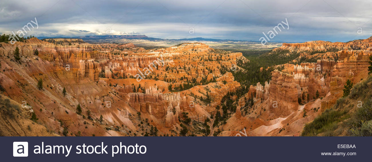 A panoramic view of Bryce Canyon in Utah - USA - Stock Image