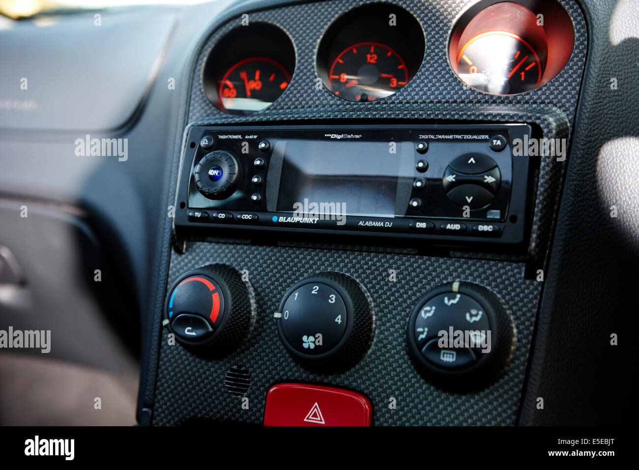 blaupunkt cd player in car entertainment in an Alfa Romeo 156 Stock