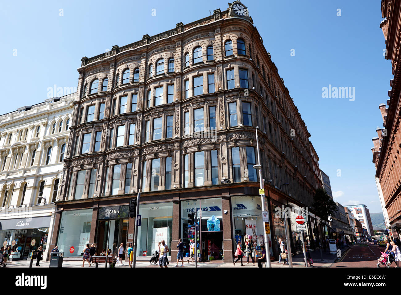 old anderson and mcauley department store building donegall avenue Belfast city centre - Stock Image