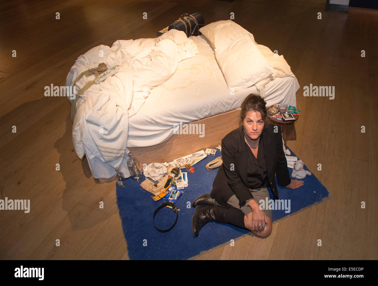 Christie's London. Tracey Emin's 'My Bed'  (1998) on the market and sold  for £2.2m in July - Stock Image