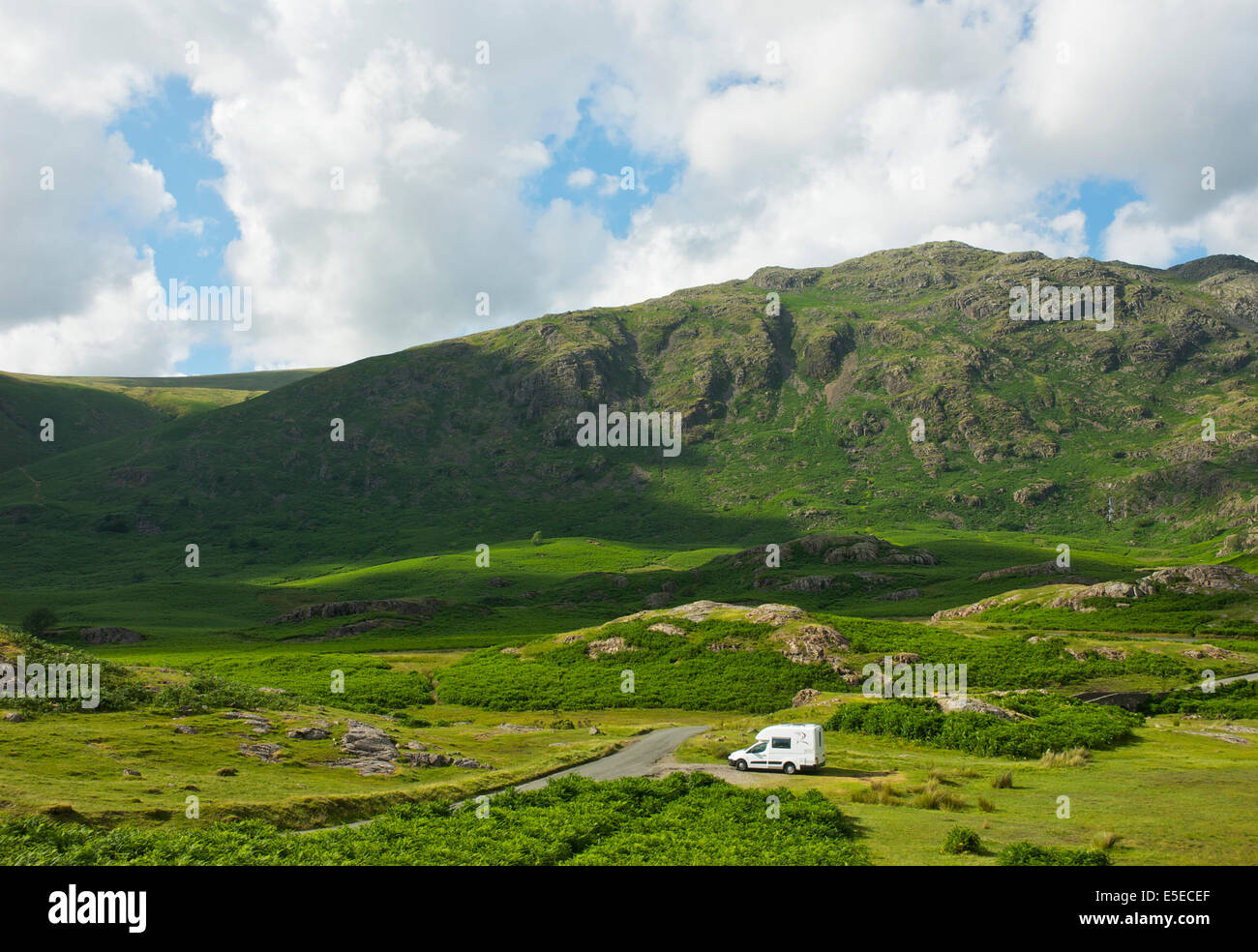 Romahome R25 motorhome parked in Wasdale, Lake District National Park, Cumbria, England UK - Stock Image