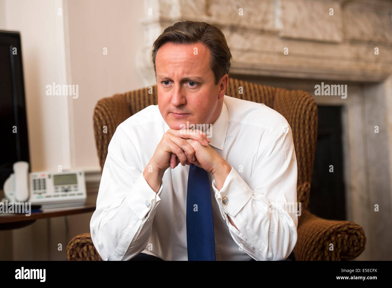 .David Cameron British Prime Minister in No 10 Downing Street - Stock Image