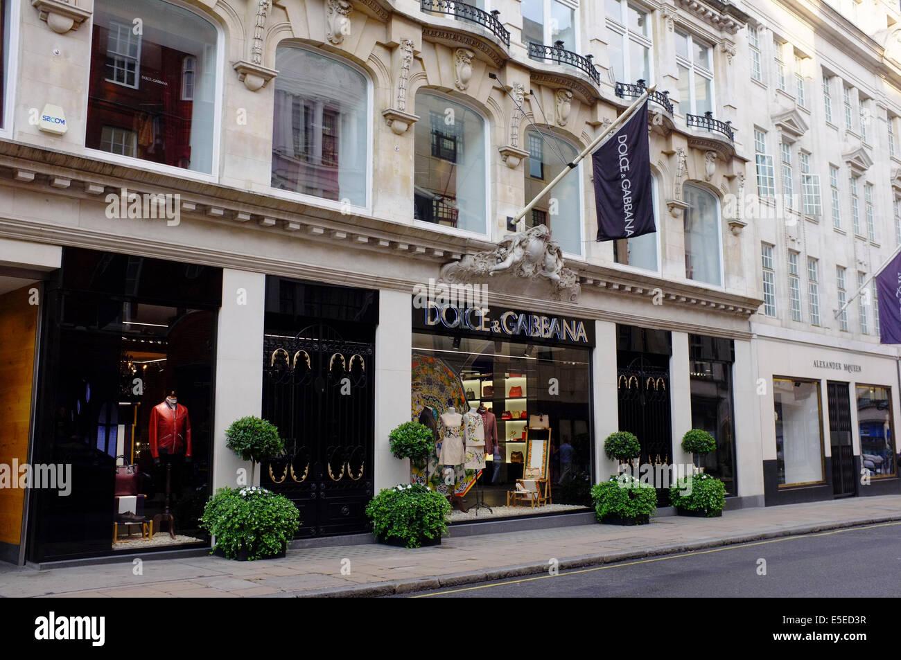 DOLCE & GABBANA designer fashion boutique on Bond Street, London - Stock Image