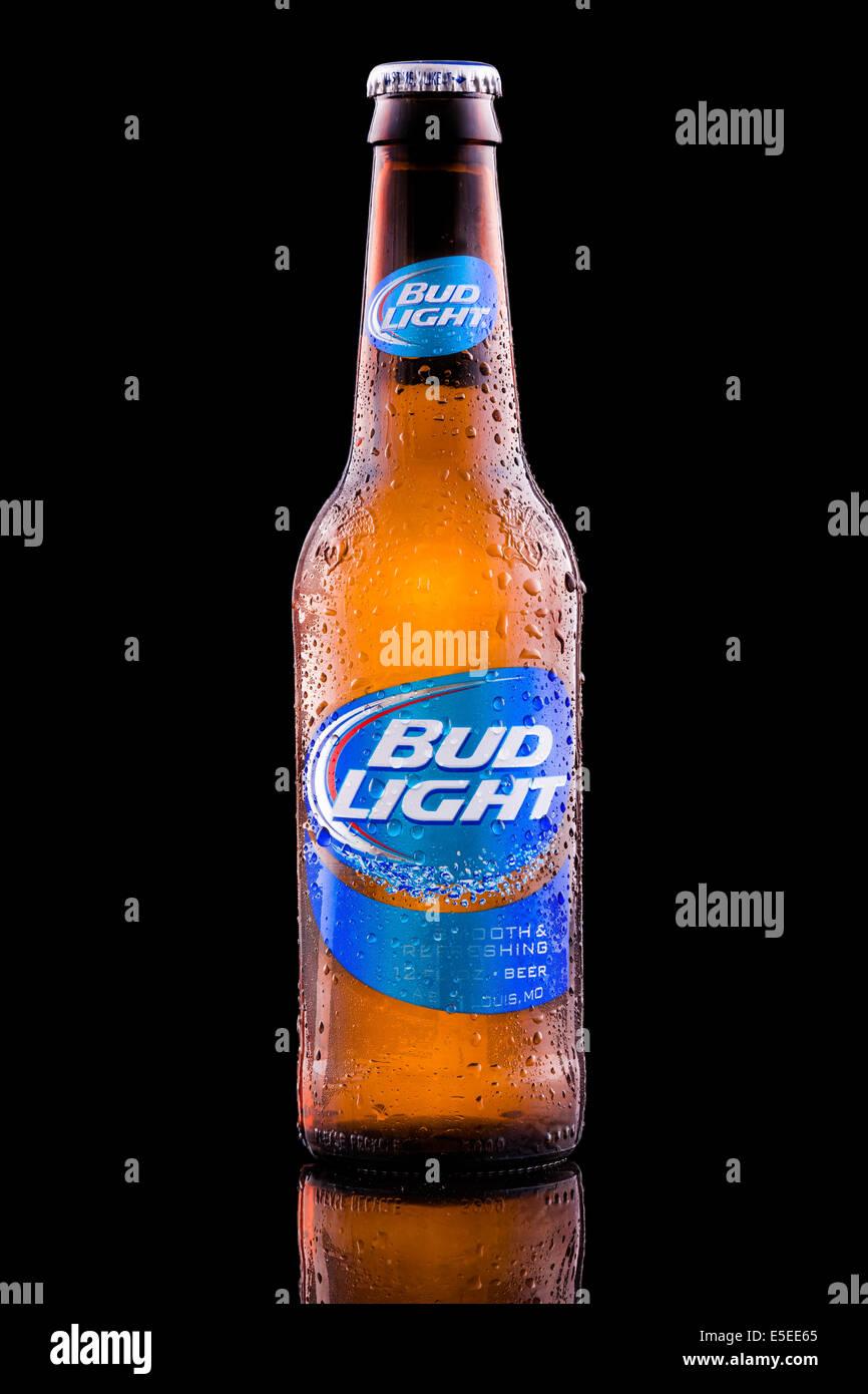 Bottle Of Bud Light Beer.   Stock Image