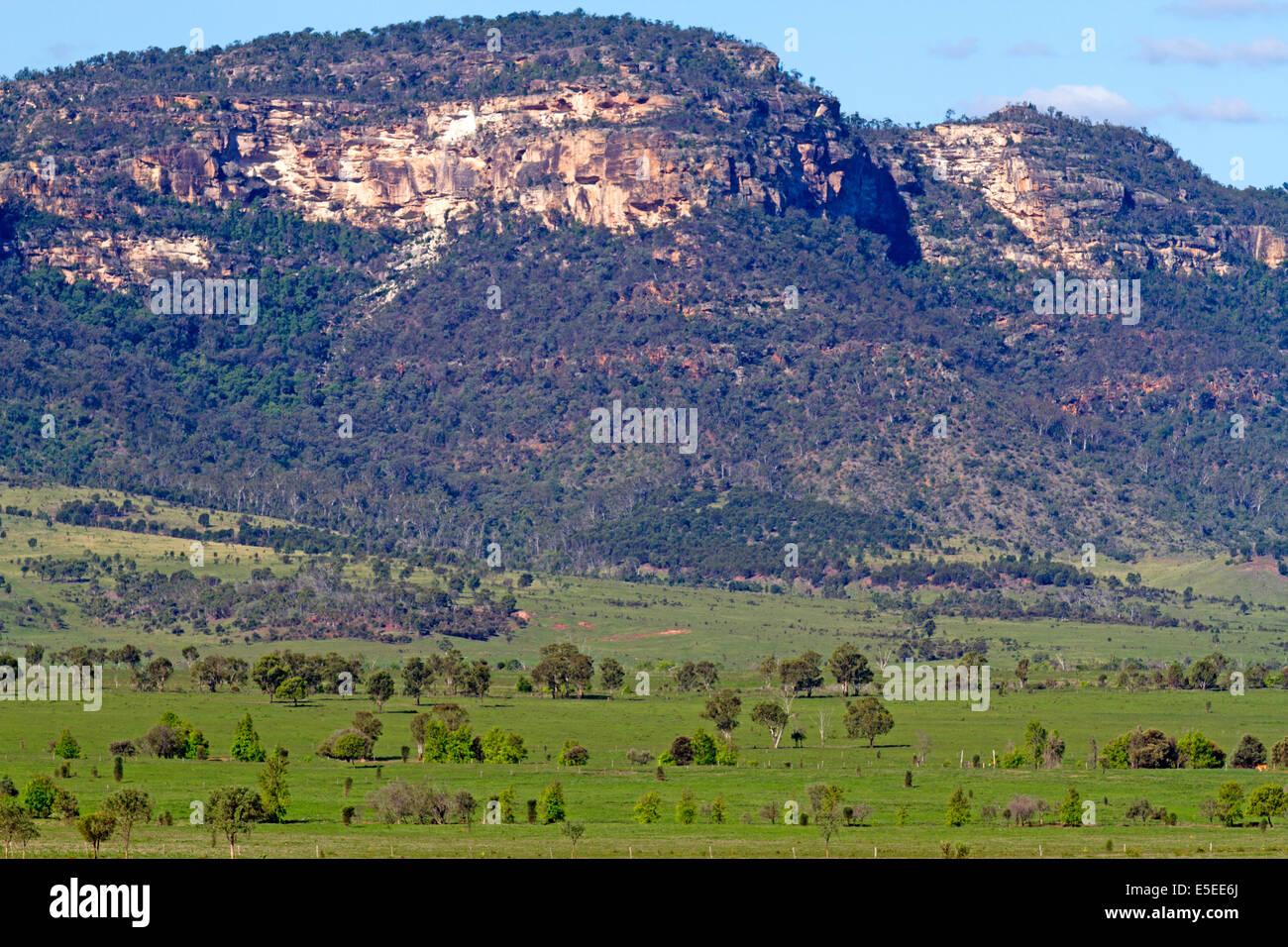 The Blackdown Tableland escarpment - Stock Image