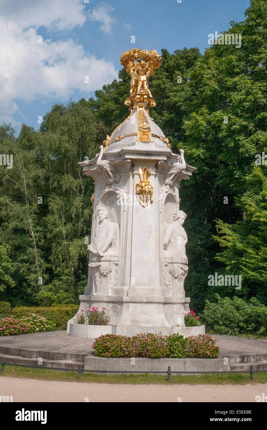 German composers memorial (1904) in the Tiergarten, Berlin - Stock Image