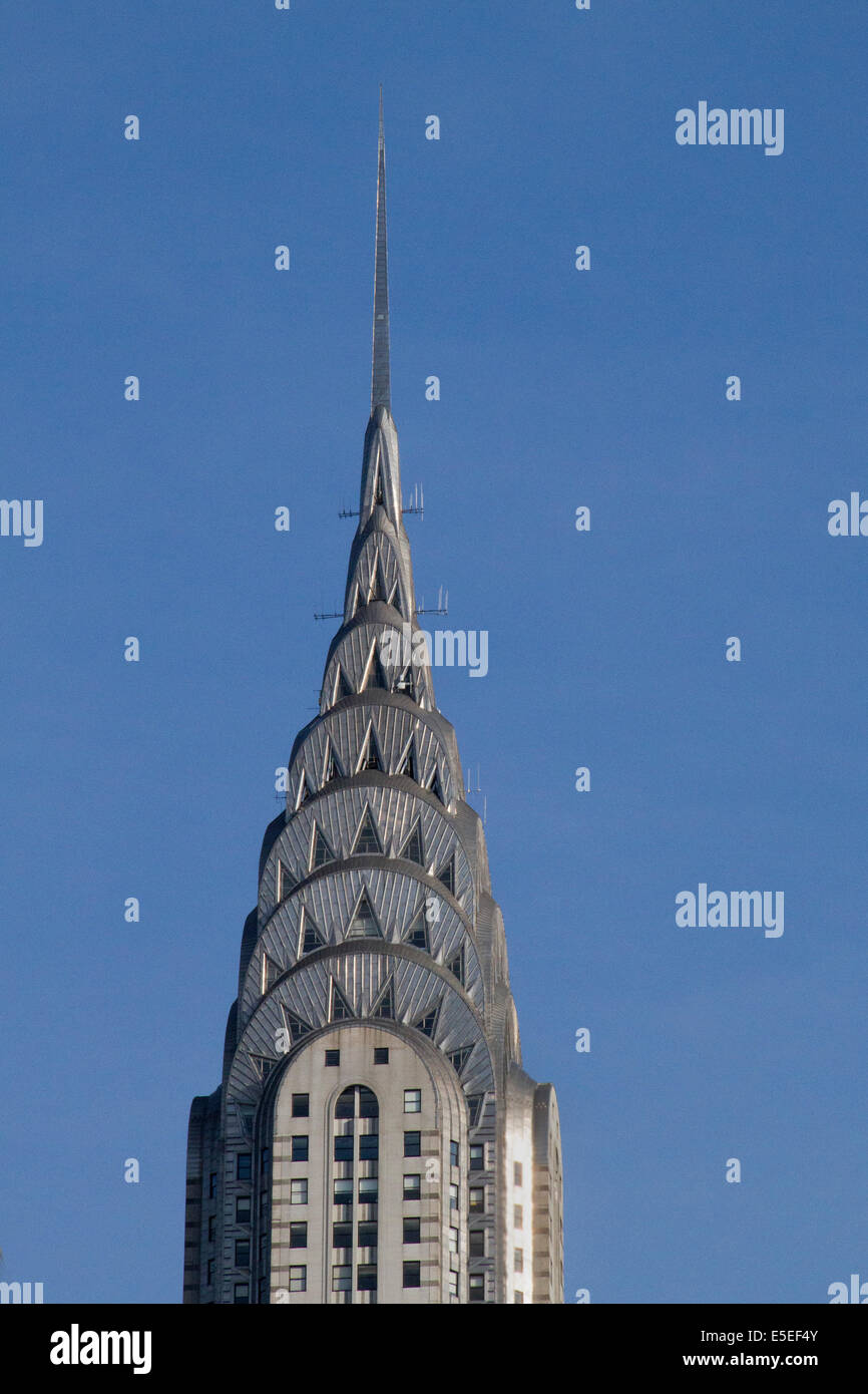 Art deco spire on the Chrysler Building.New Y ork,New York - Stock Image