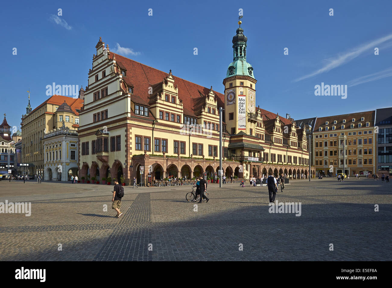 Old Town Hall in Leipzig, Germany - Stock Image