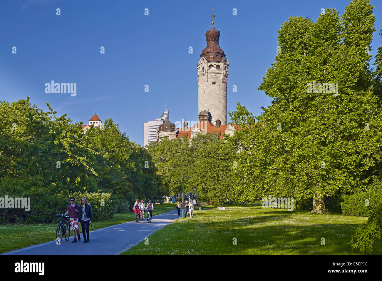 New Town Hall, Leipzig, Germany - Stock Image