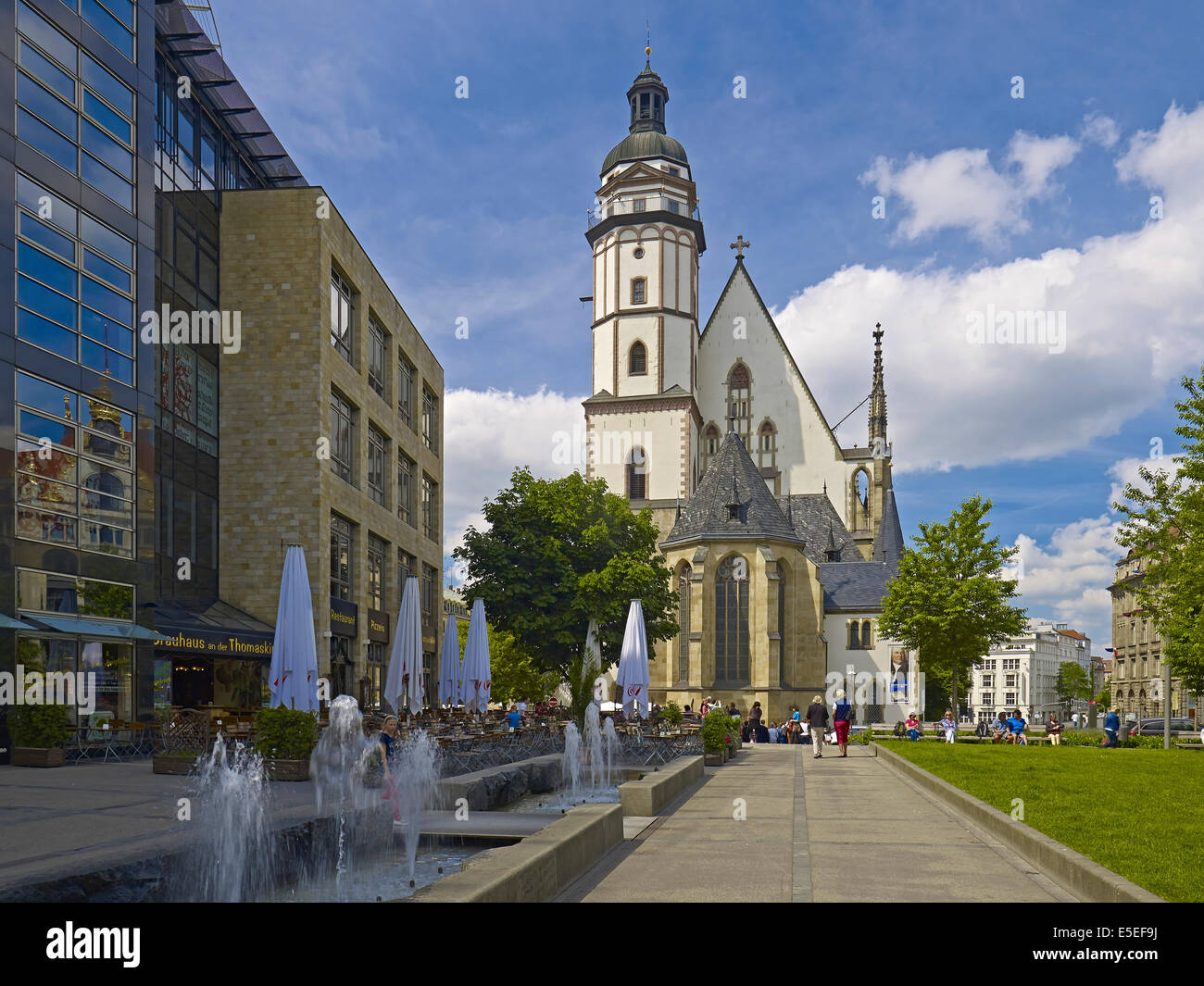 St. Thomas Church in Leipzig, Germany - Stock Image