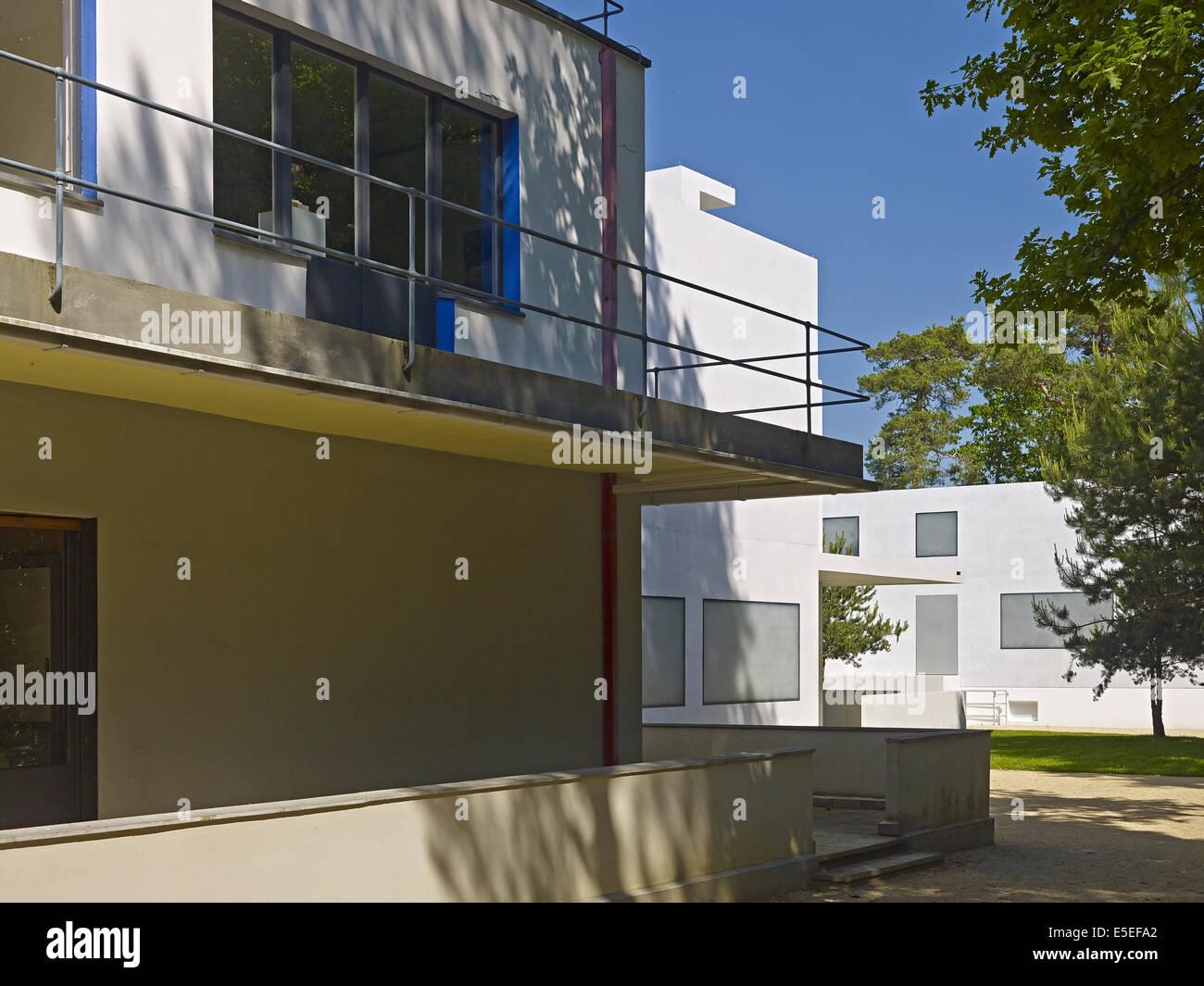 Bauhaus Dessau Masters Houses Stock Photos Bauhaus Dessau